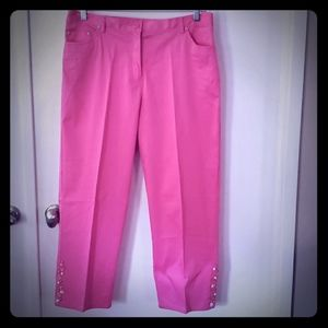 Pink Capris With Beading